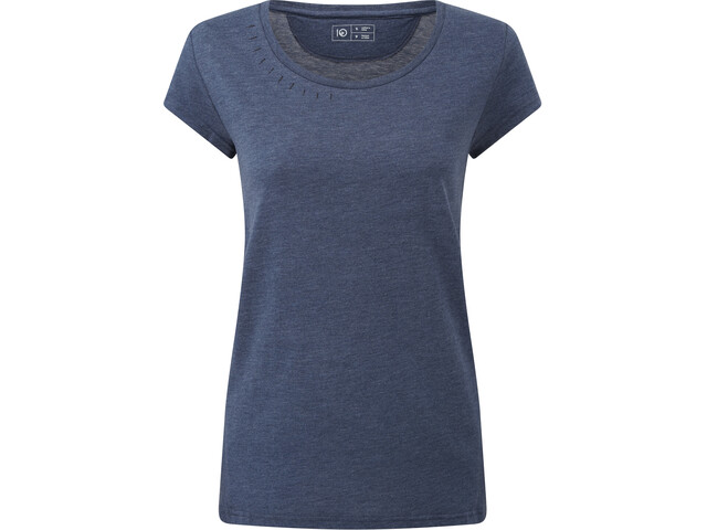 tentree Timberline T-shirt Femme, dark ocean blue heather